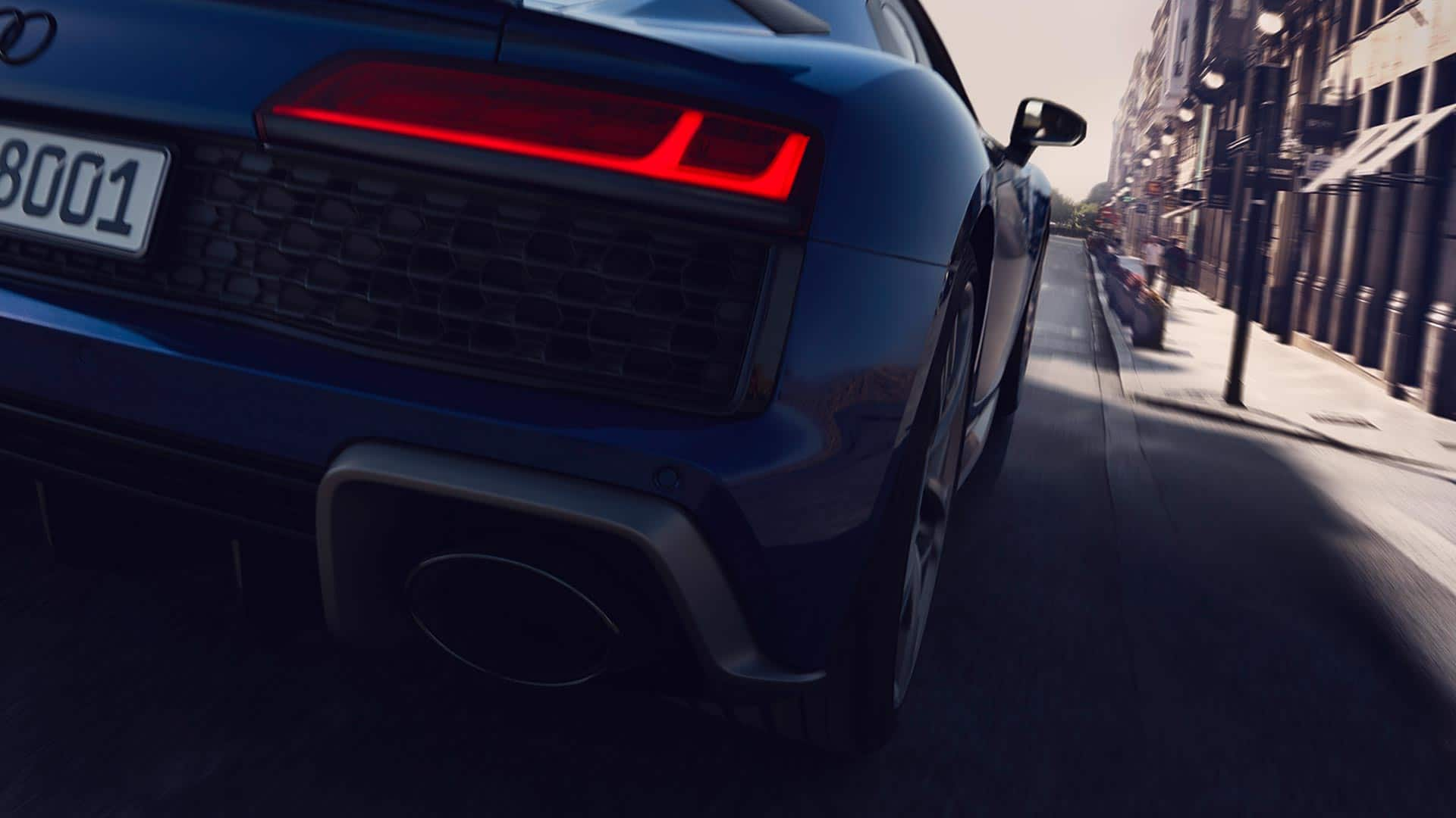 Audi R8 Coupé V10 performance quattro rearview